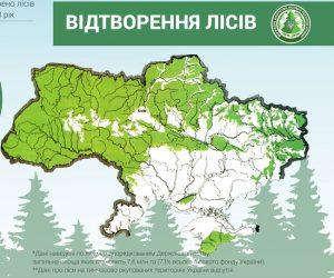 У 2018 році відтворено майже 44 тисячі гектарів лісів