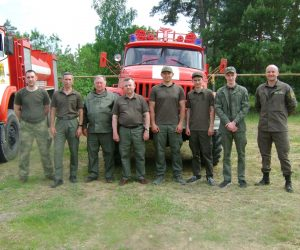 Сумські лісівники взяли участь у протипожежних навчаннях на Харківщині